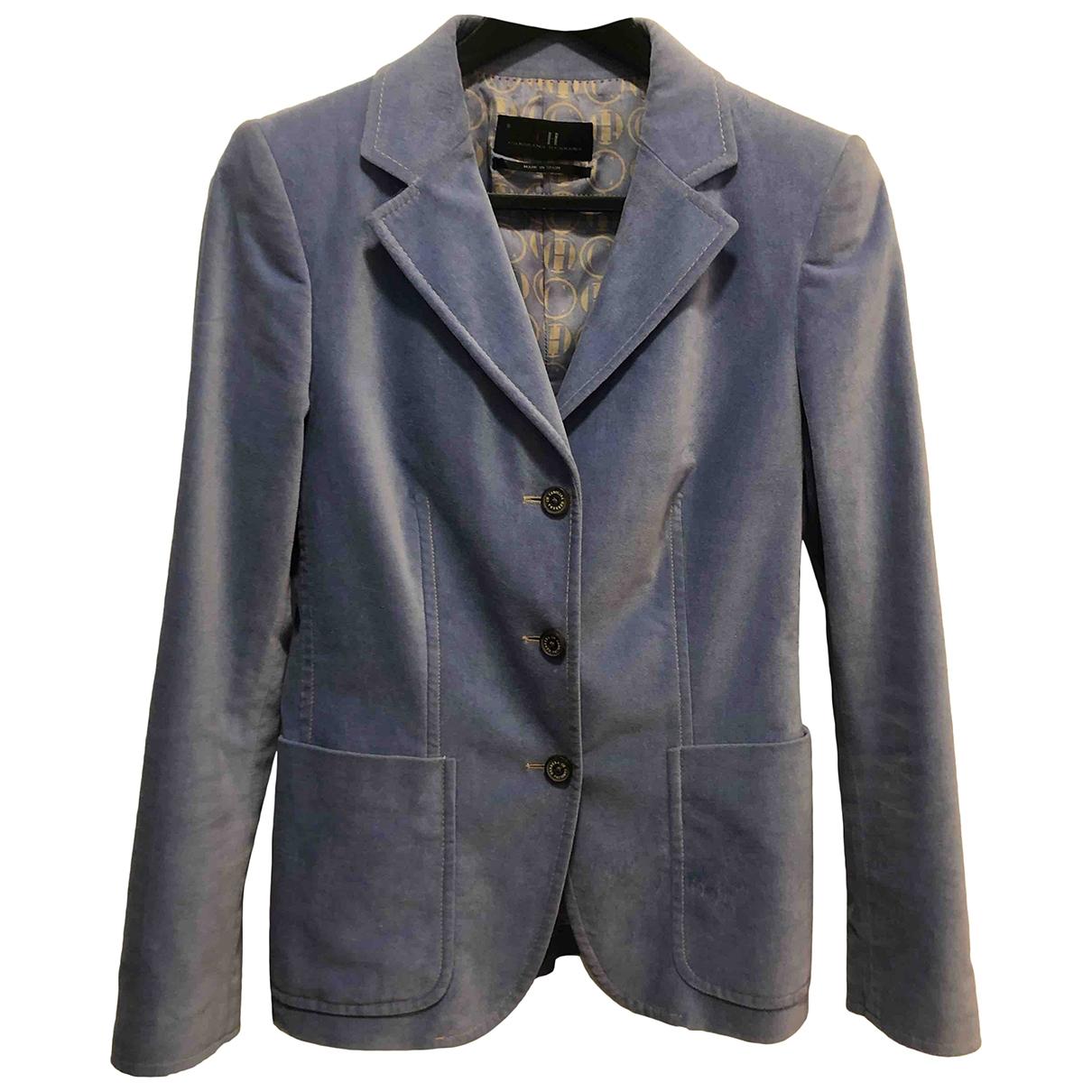 Carolina Herrera - Veste   pour femme en velours - bleu