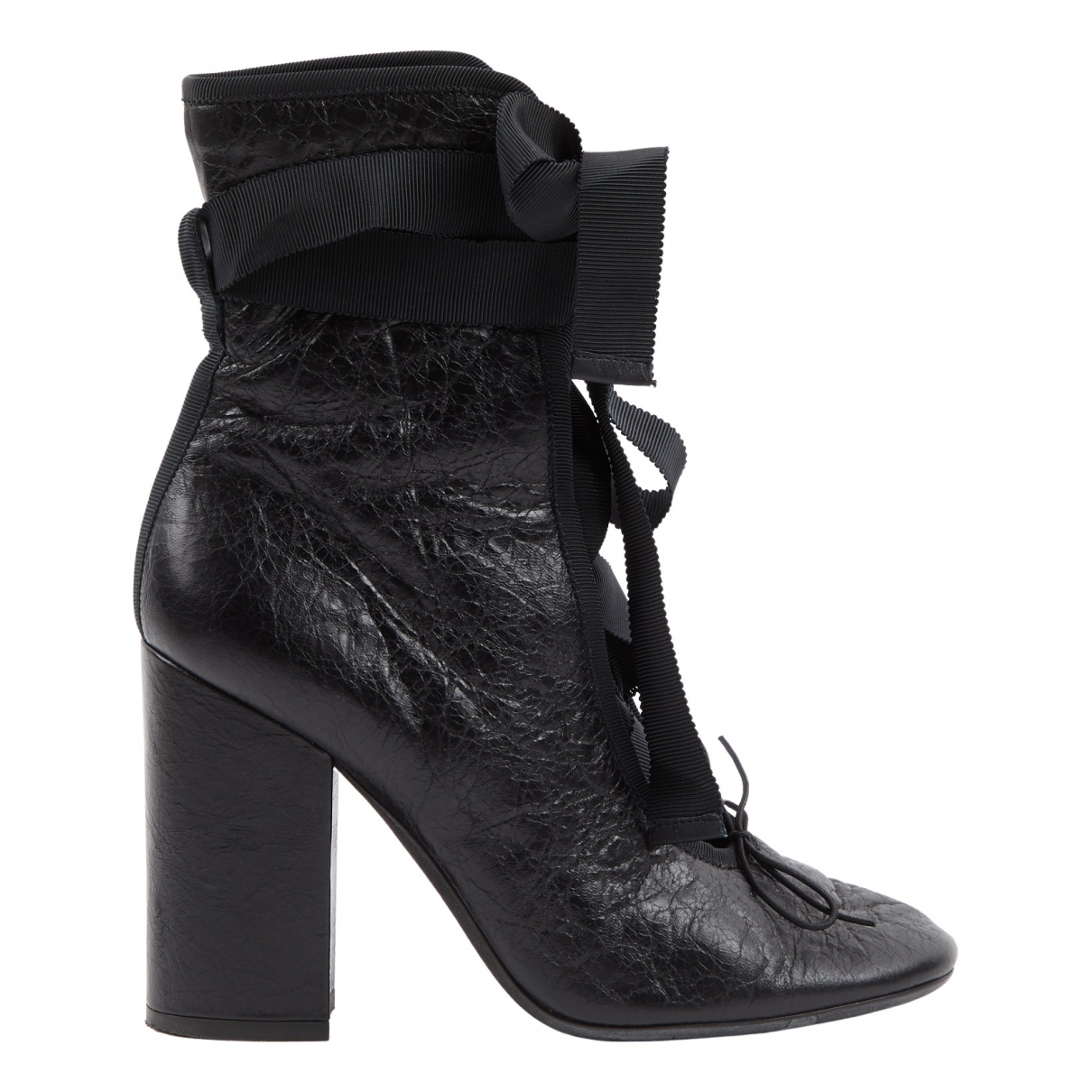 Valentino Garavani N Black Leather Ankle boots for Women 36.5 EU
