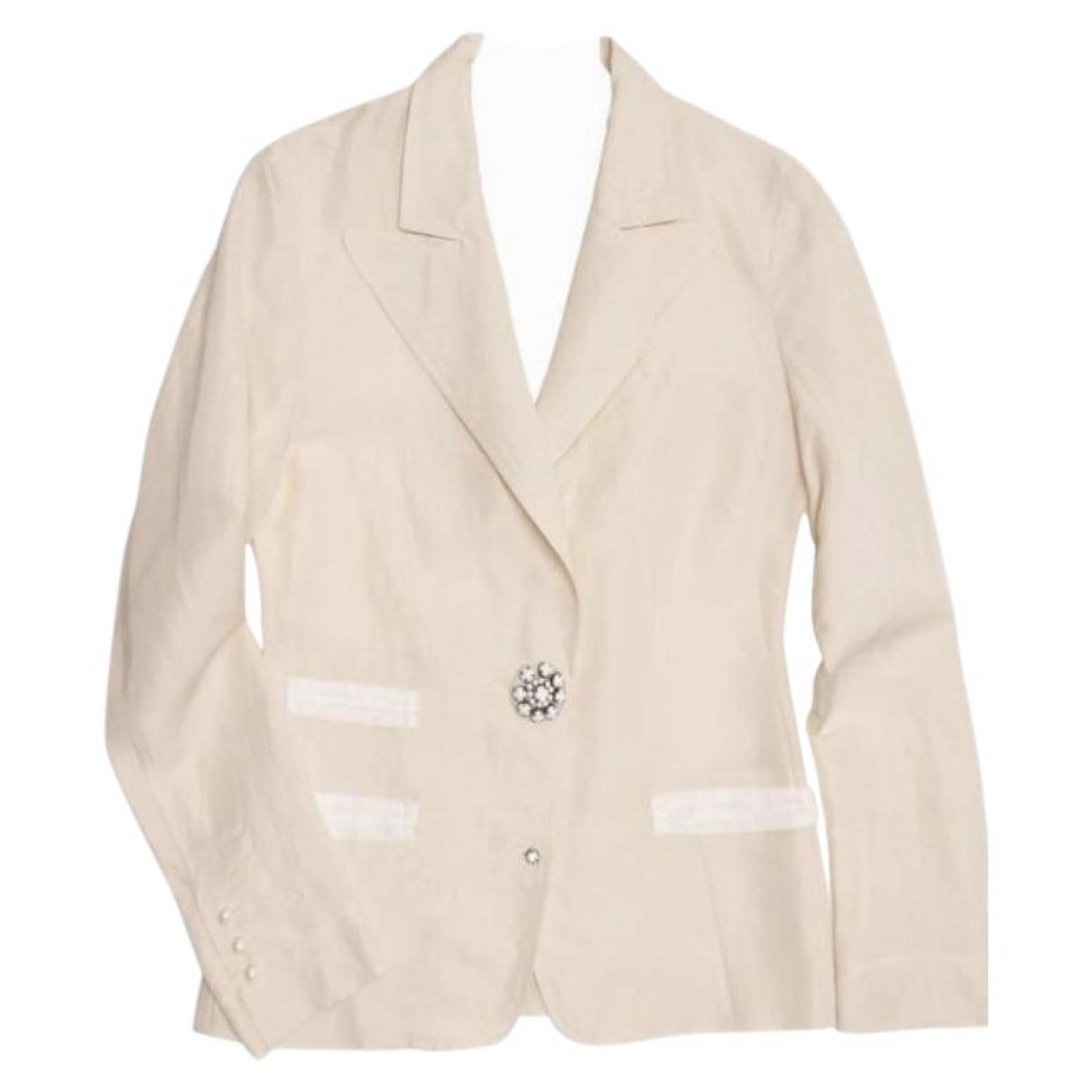 Lanvin - Veste   pour femme en soie - ecru