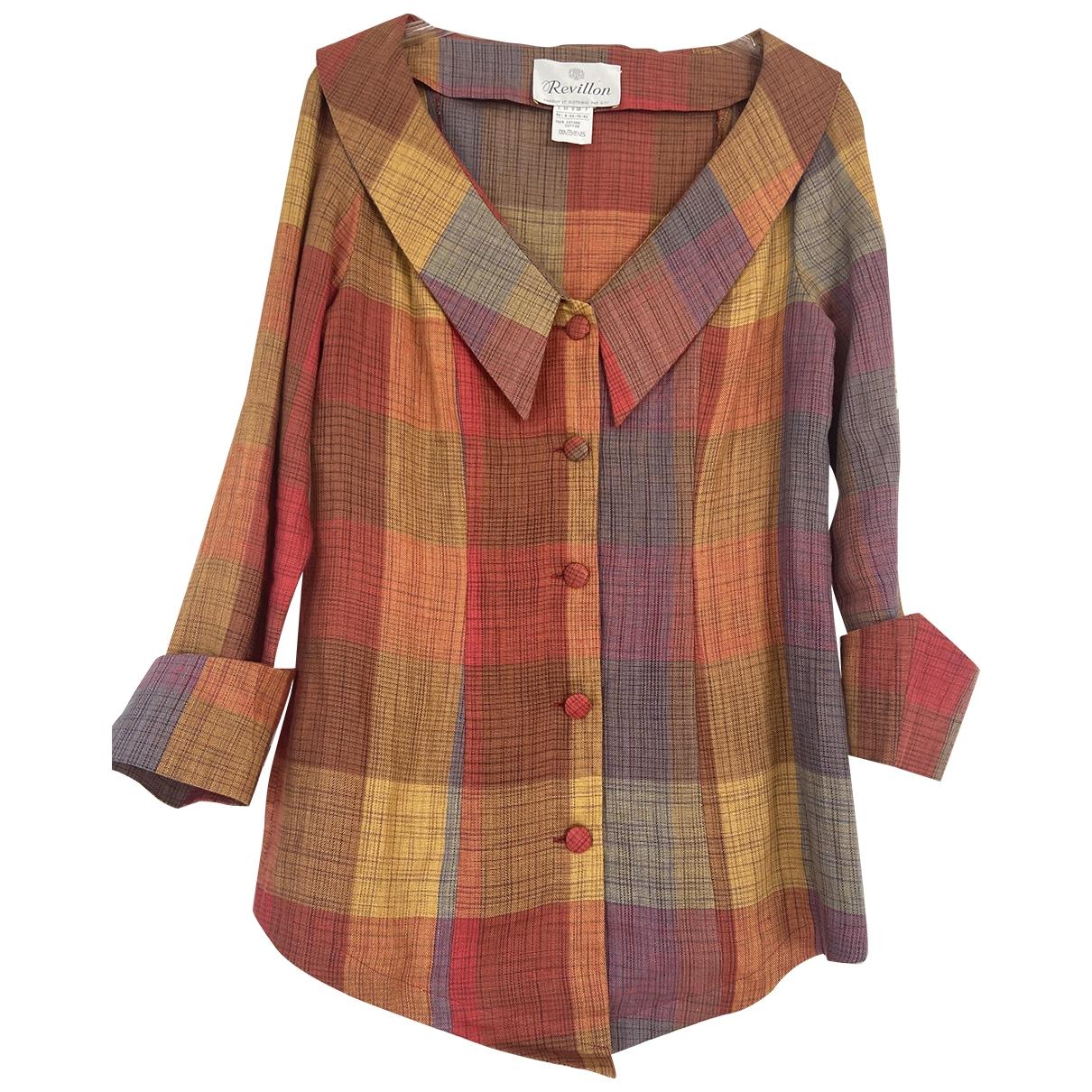 Revillon - Top   pour femme en coton - multicolore