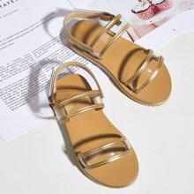 Toddler Girls Clear Strap Slingback Sandals