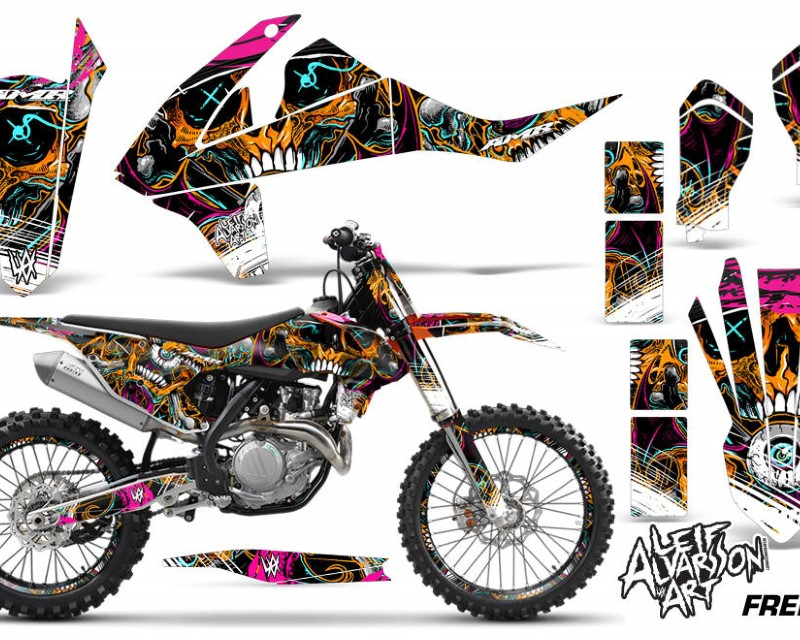AMR Racing GraphicS Kit Decal Wrap + # Plates For KTM SX SXF XCF 250/350/450 2016+ FRENZY ORANGE