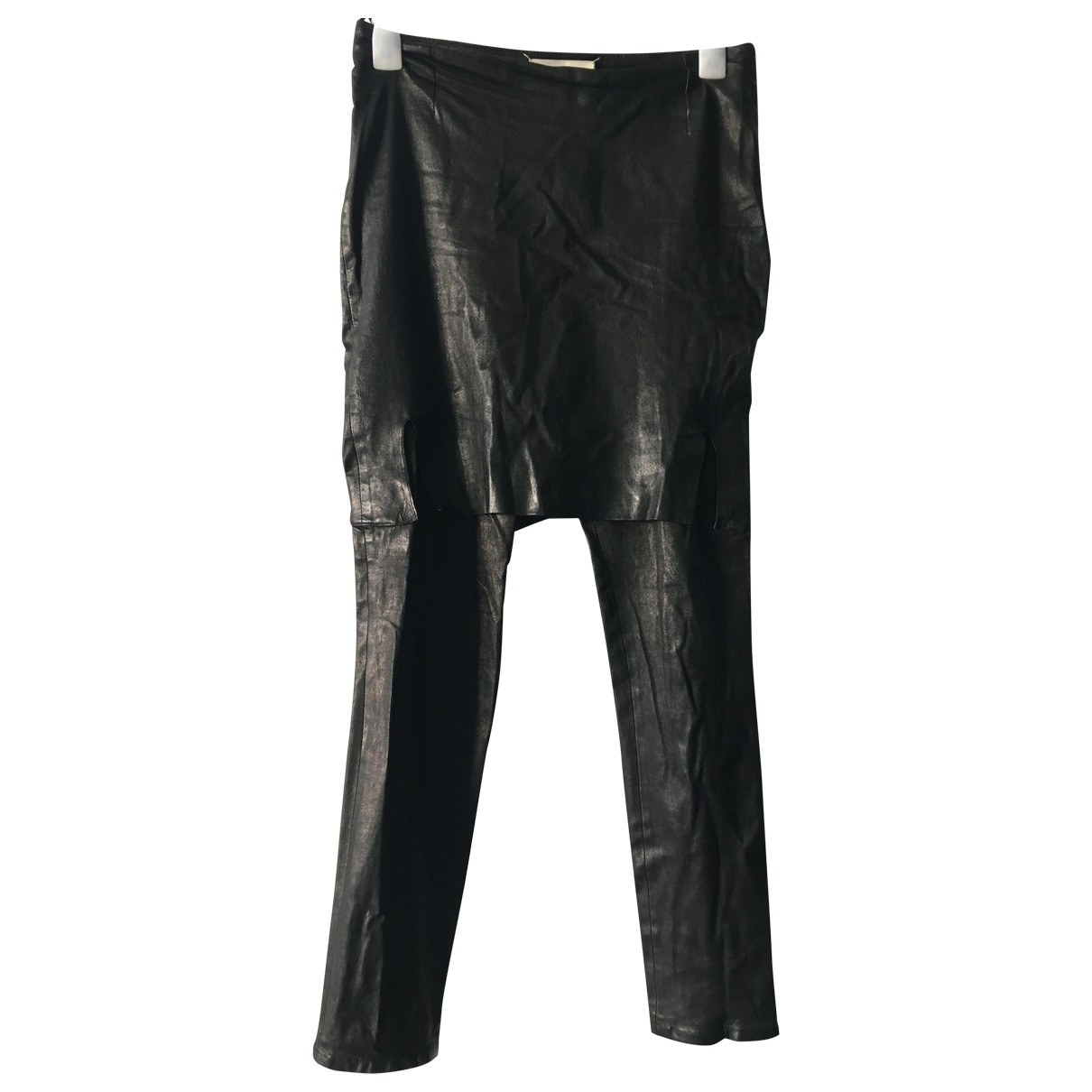 Maison Martin Margiela \N Brown Leather Trousers for Women 44 FR