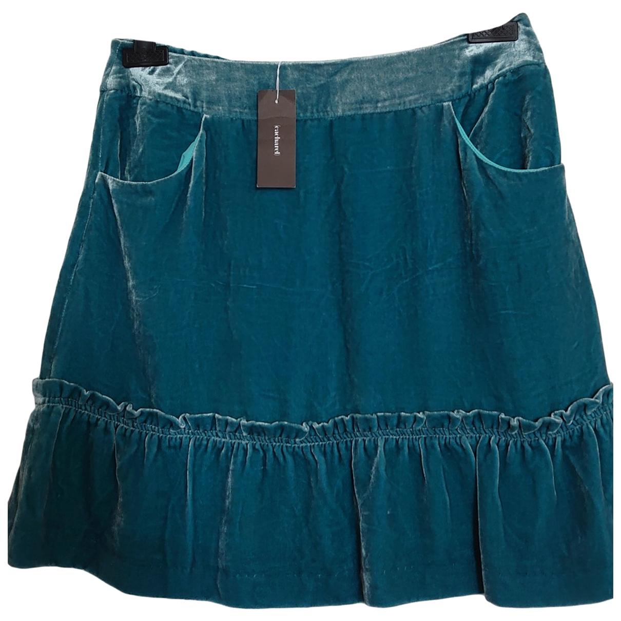 Cacharel \N Blue Velvet skirt for Women 38 FR