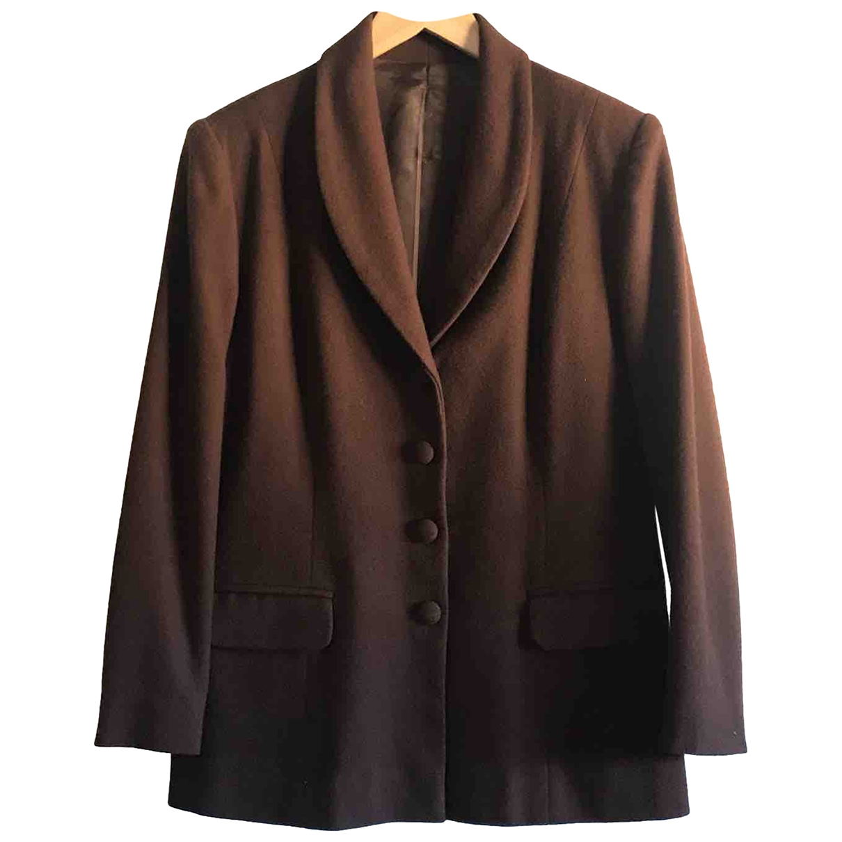 Non Signé / Unsigned \N Brown Wool jacket for Women 44 FR