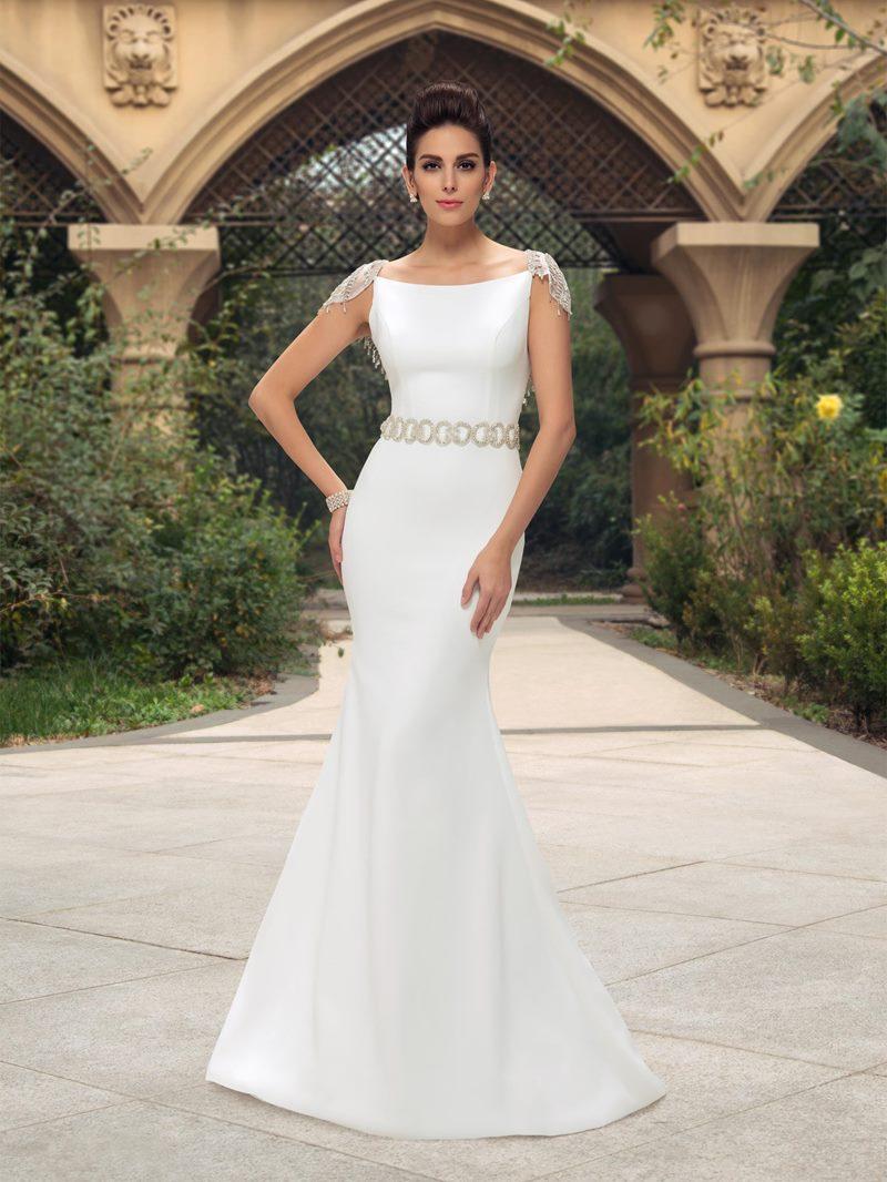 Ericdress Cap Sleeves Beading Mermaid Wedding Dress