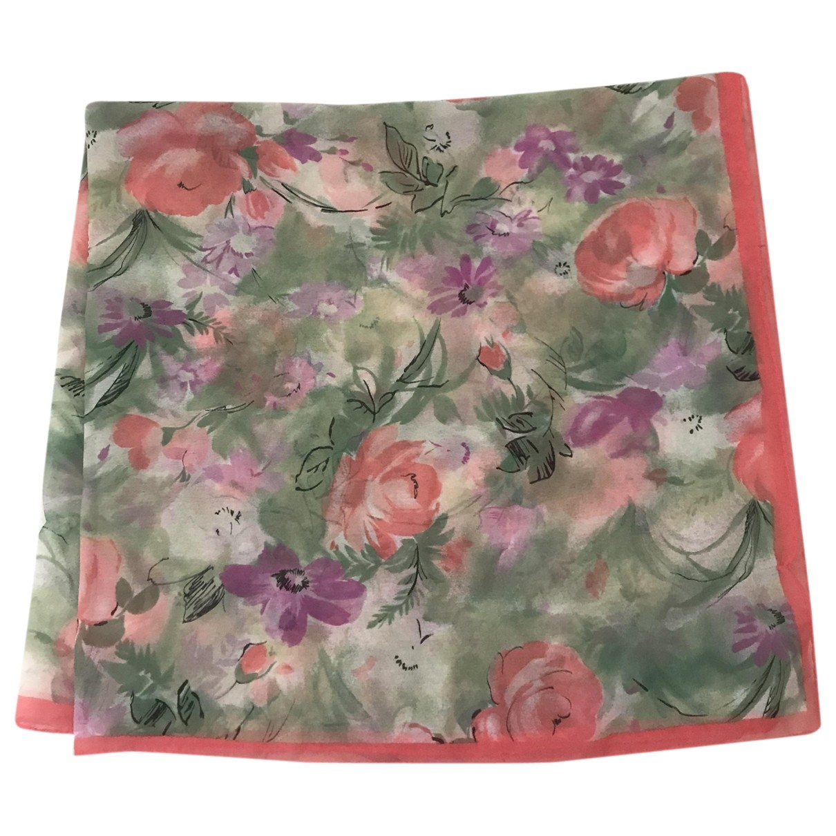 Non Signe / Unsigned \N Schal in  Bunt Polyester