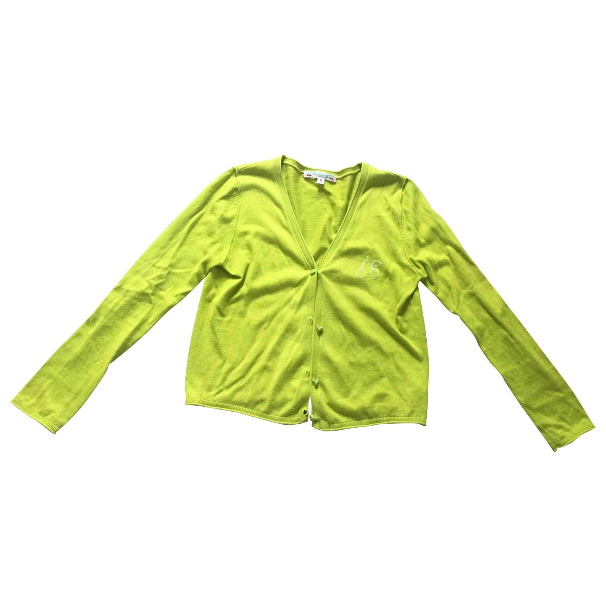 Bonpoint - Pull   pour enfant en coton - jaune