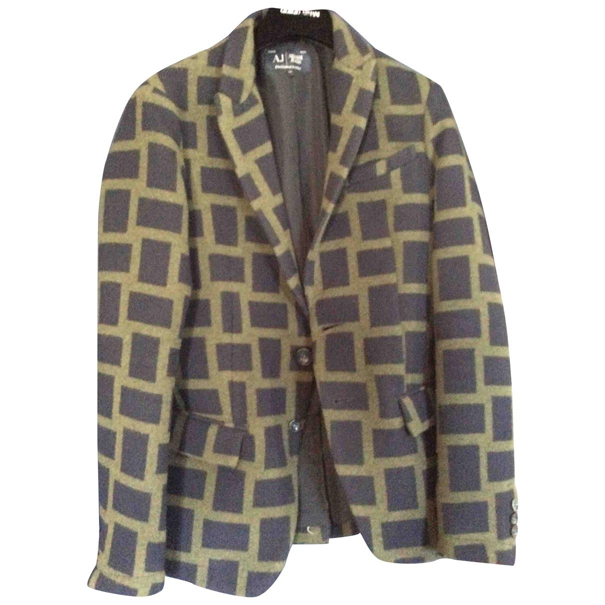 Armani Jeans \N Blue Wool jacket  for Men 48 IT