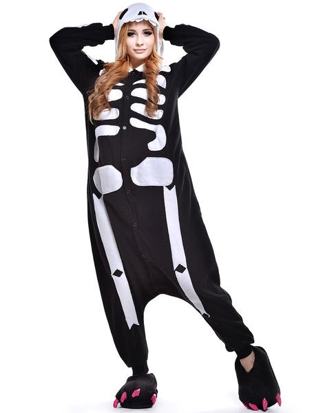 Milanoo Disfraz Halloween Kigurumi para disfraz de craneo Halloween