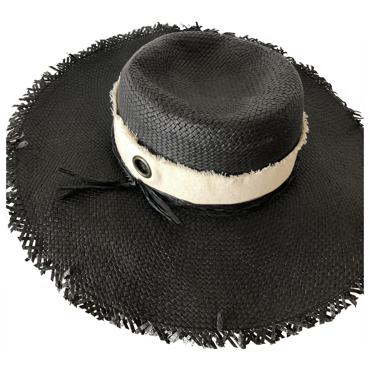 Non Signé / Unsigned \N Black Cloth hat for Women 21.2 Inches
