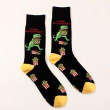 Maenner Socken mit Dinosaurier Muster