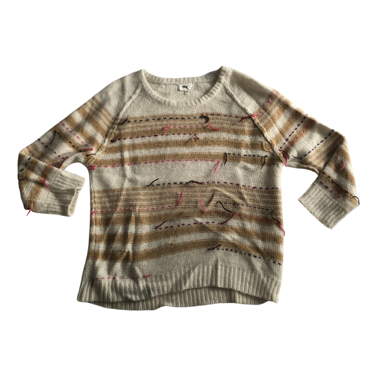 Bel Air - Pull   pour femme en laine - ecru