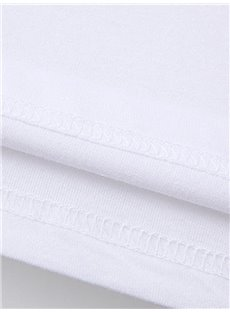 Beddinginn Short Sleeve Round Neck Standard Hand Painted Straight Women's T-Shirt