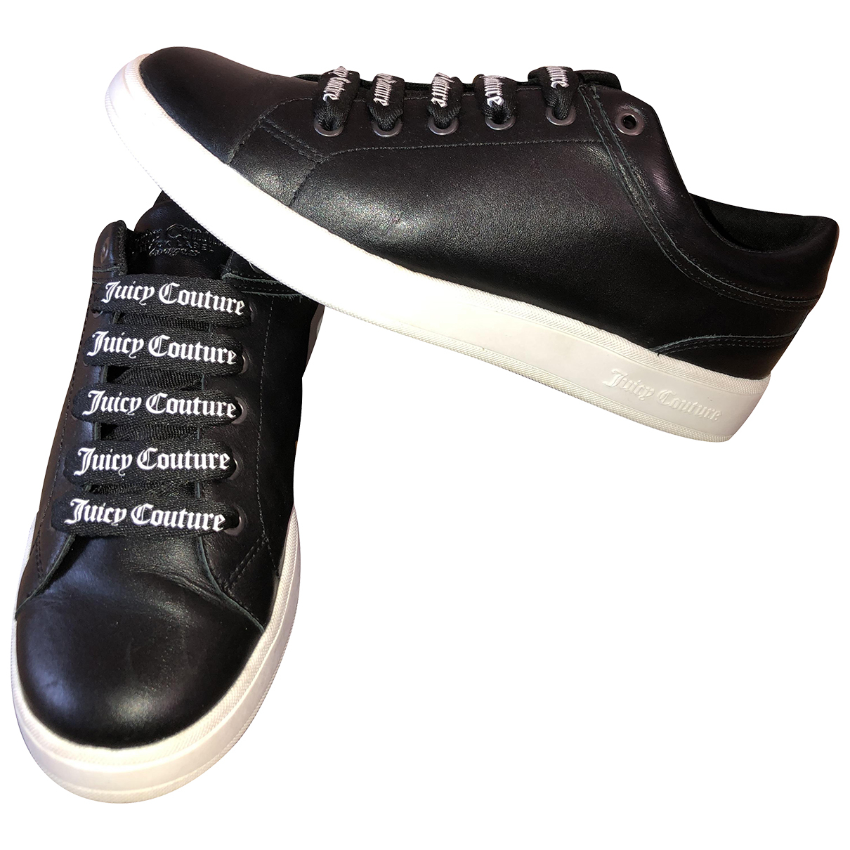 Juicy Couture \N Sneakers in  Schwarz Leder