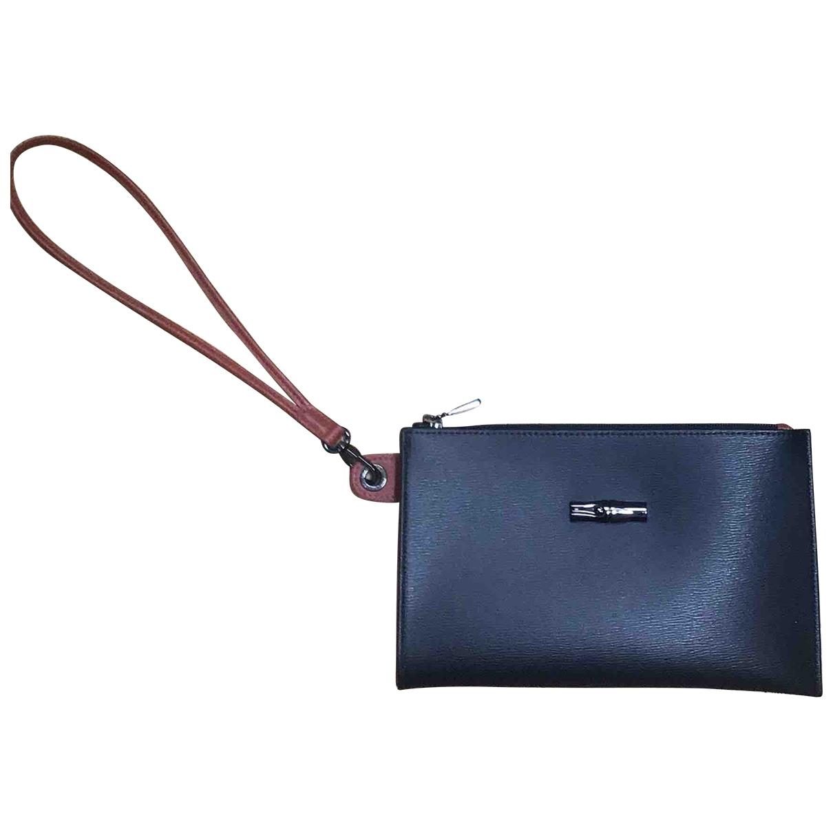 Longchamp - Pochette Roseau pour femme en cuir - noir
