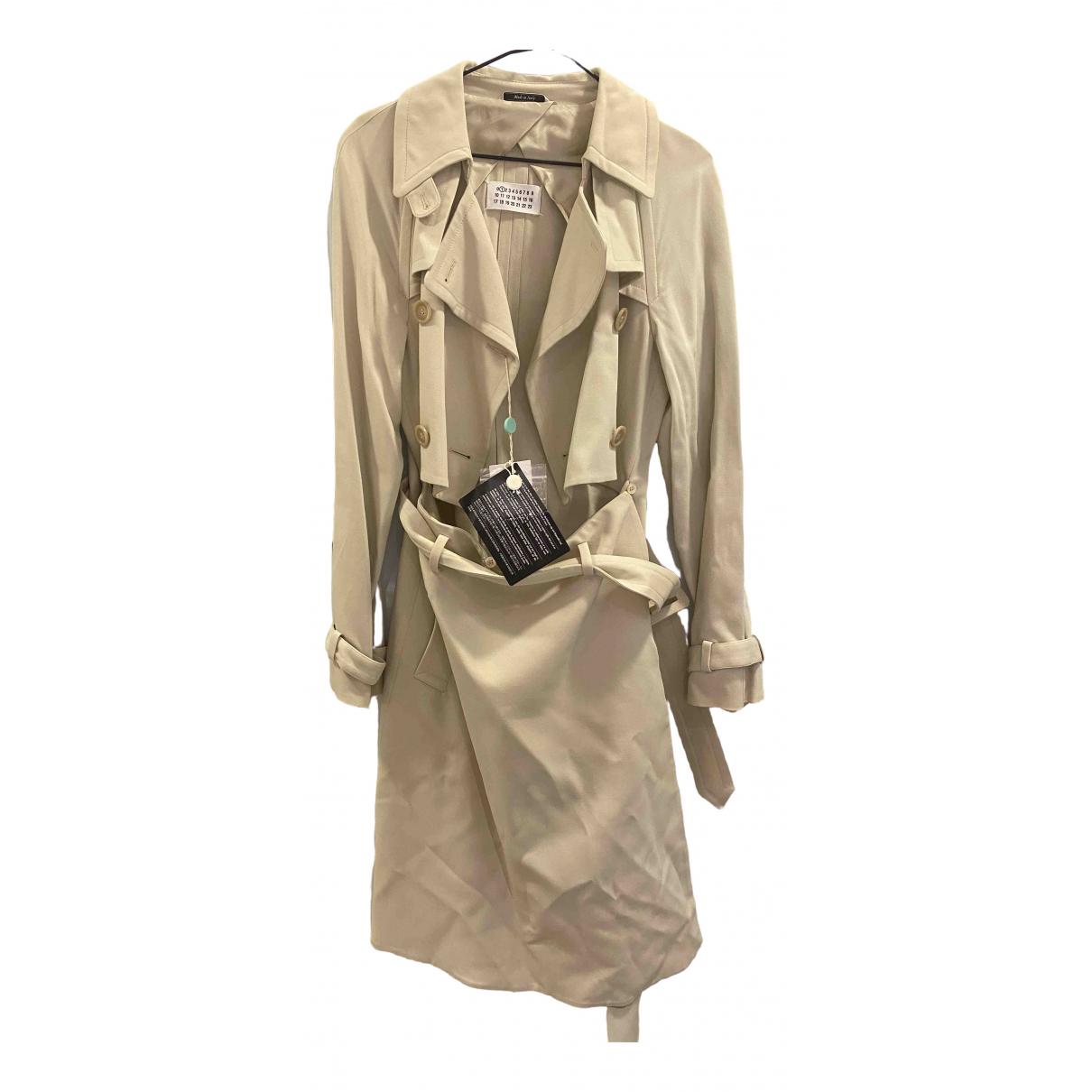 Maison Martin Margiela \N Beige Cotton Trench coat for Women 40 IT