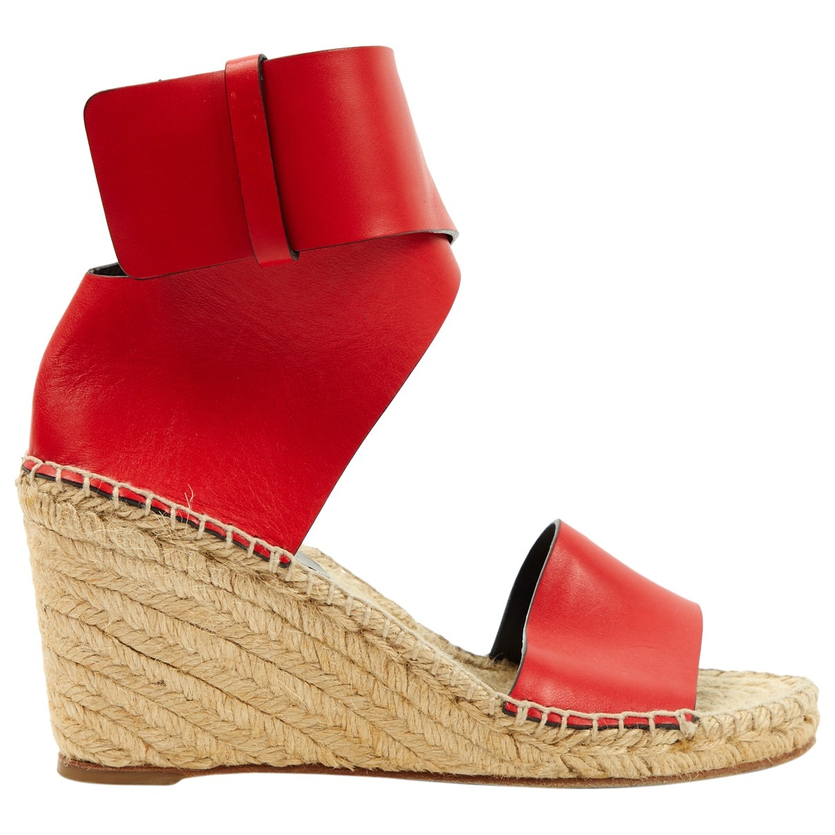 Celine \N Red Leather Sandals for Women 37 EU