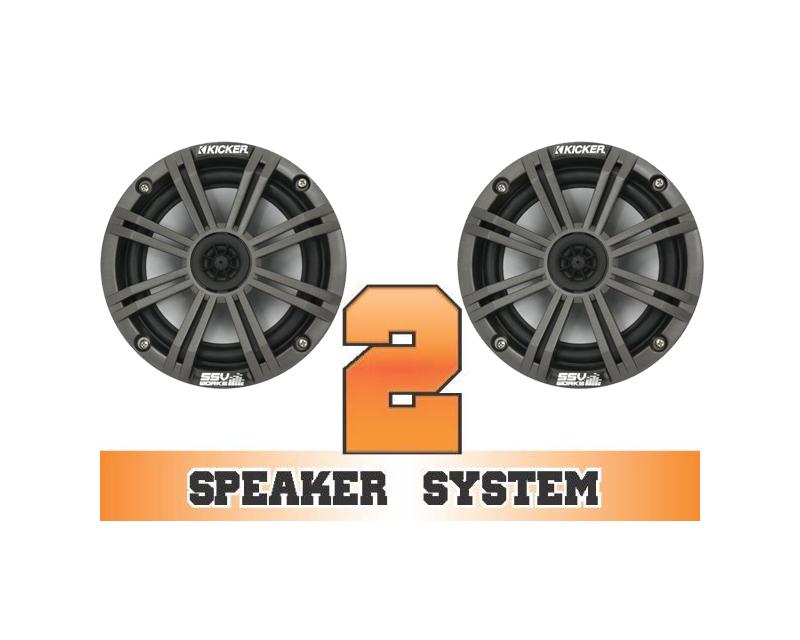 SSV Works RANGER-2K Complete 2 Speaker Kicker System Polaris Ranger 800 HD EPS 11-12
