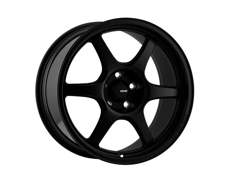 Konig Hexaform Wheel 18x10.5 5x114.3 18 BKMTXX Matte Black