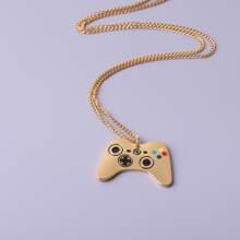 Maenner Halskette mit Spielhandle Dekor