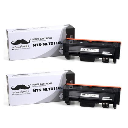Compatible Samsung MLT-D116L Black Toner Cartridge - Moustache - 2/Pack