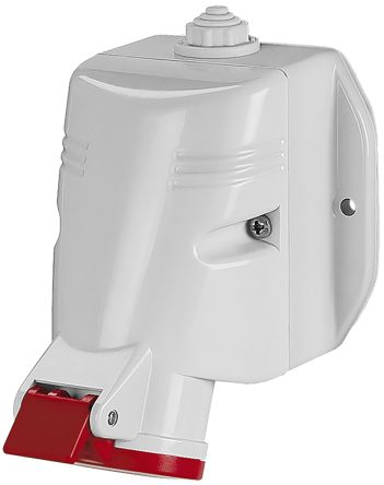 RS PRO IP44 Red Wall Mount 3P+N+E Industrial Power Socket, Rated At 16.0A, 415.0 V