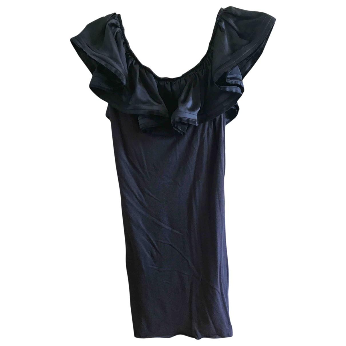 Lanvin \N Kleid in  Blau Baumwolle