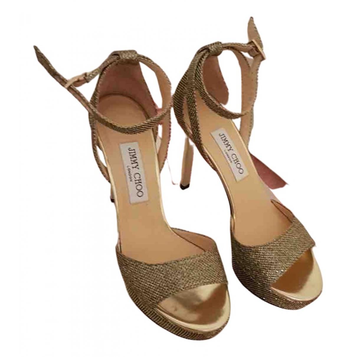 Jimmy Choo - Sandales   pour femme en cuir - dore