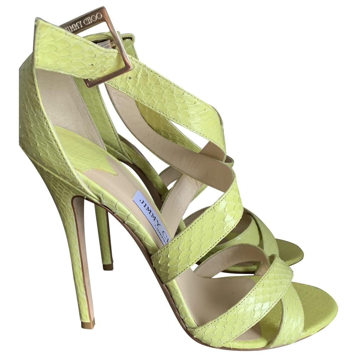 Jimmy Choo \N Yellow Leather Sandals for Women 39 EU