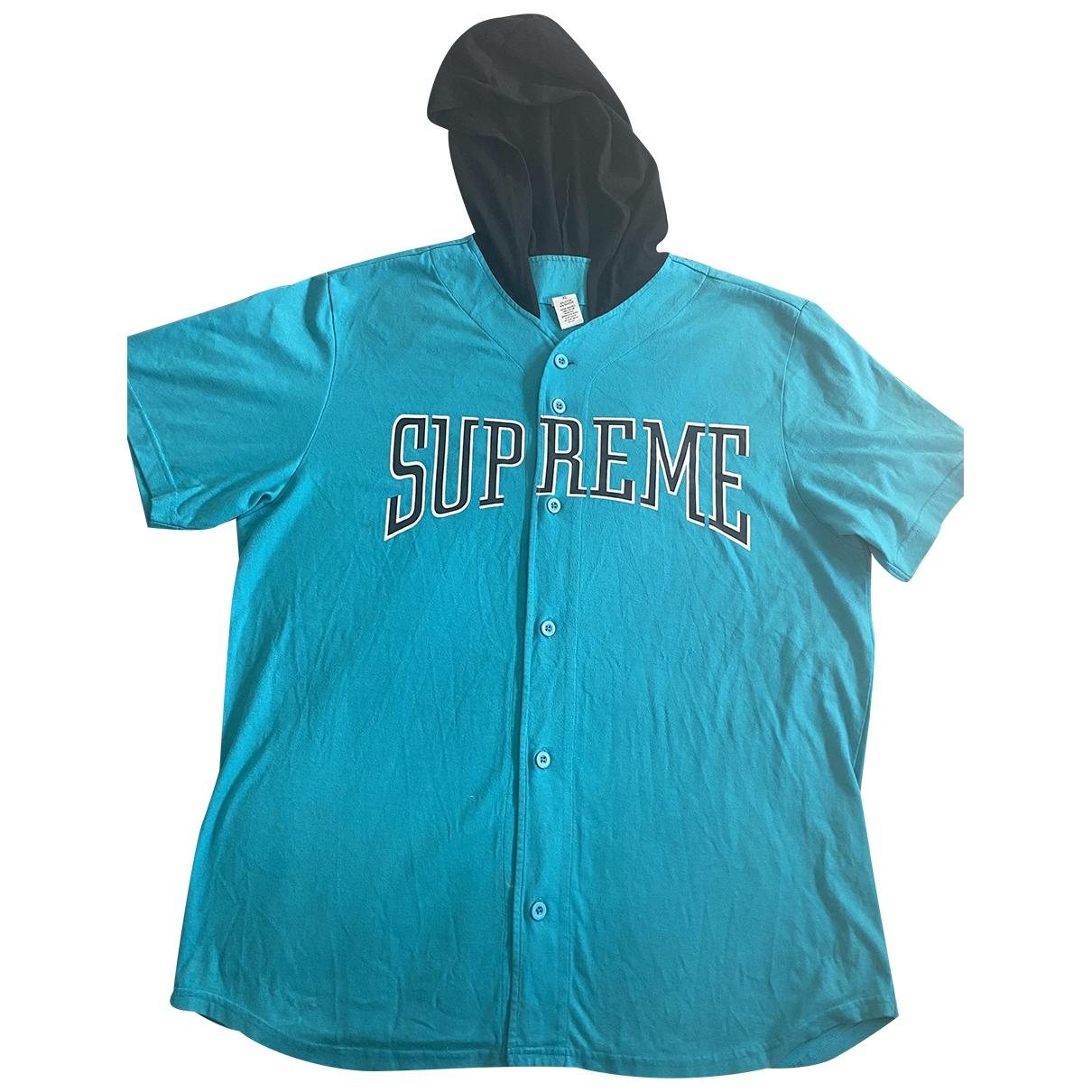 Supreme \N T-Shirts in  Tuerkis Baumwolle