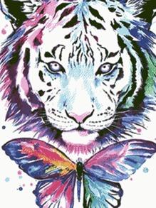 Tiger Print DIY Diamond Painting Without Frame