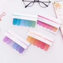 1 paquete nota adhesiva de color gradiente