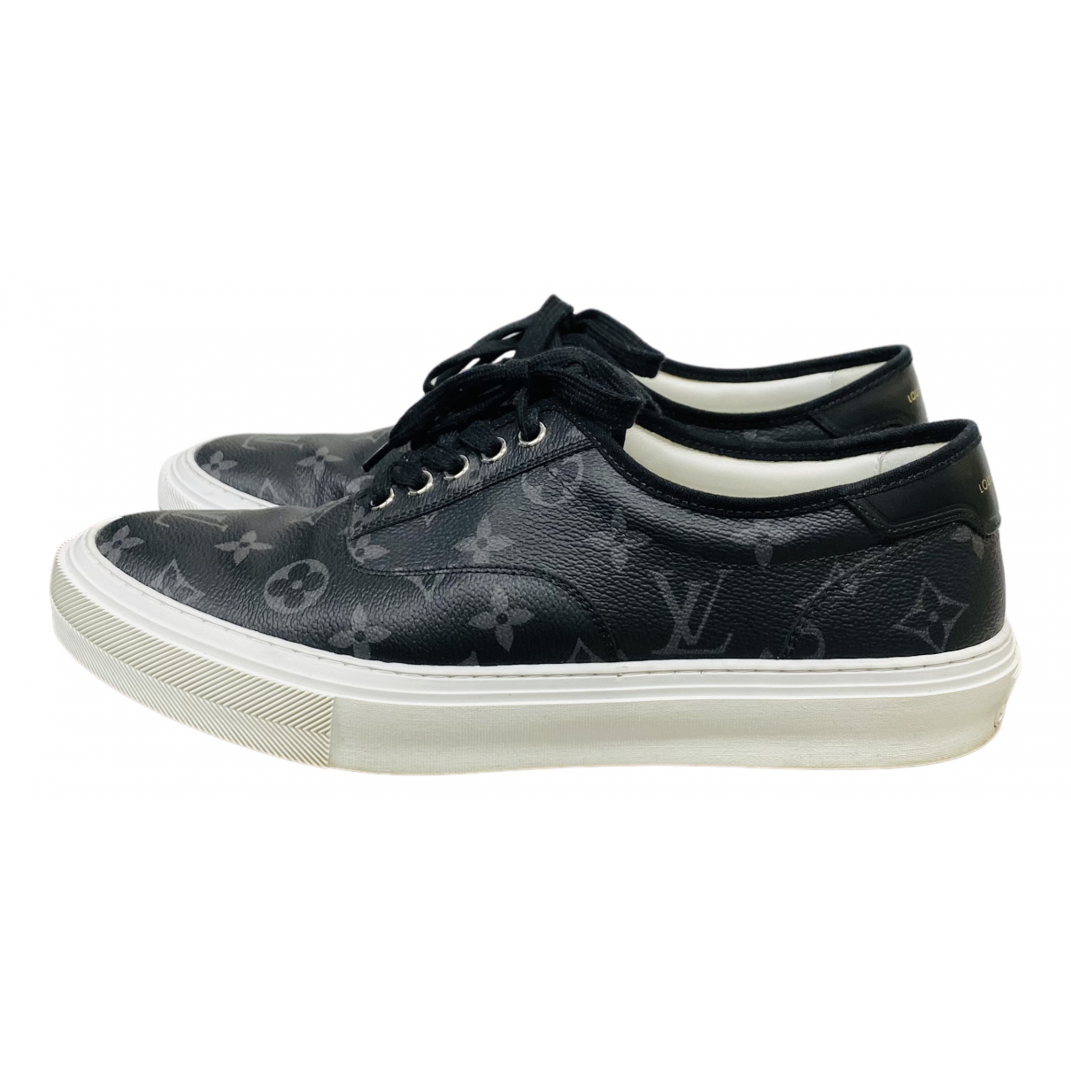 Louis Vuitton Trocadero Black Cloth Trainers for Men 42 EU
