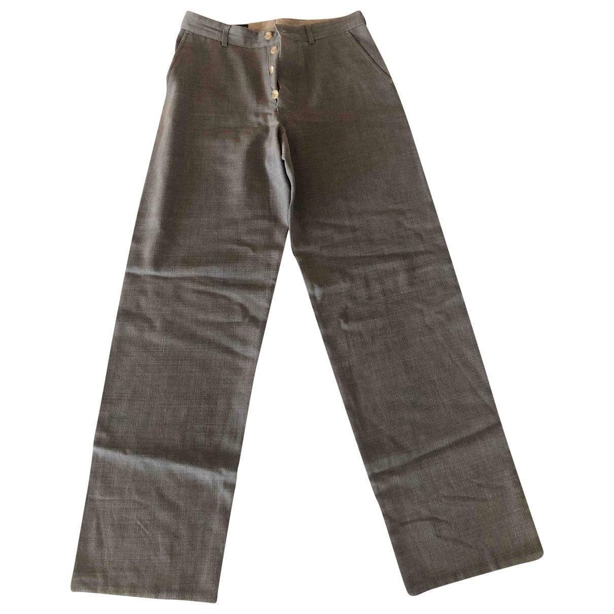 Giorgio Armani \N Khaki Cotton Trousers for Men 50 IT