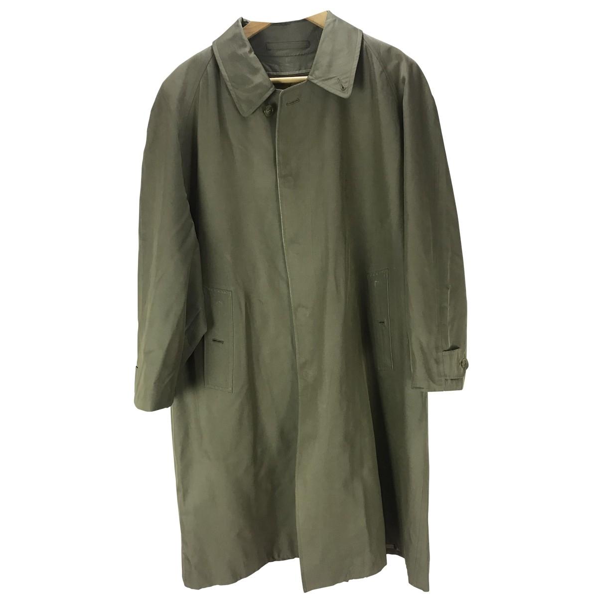 Burberry - Manteau   pour homme en coton - vert
