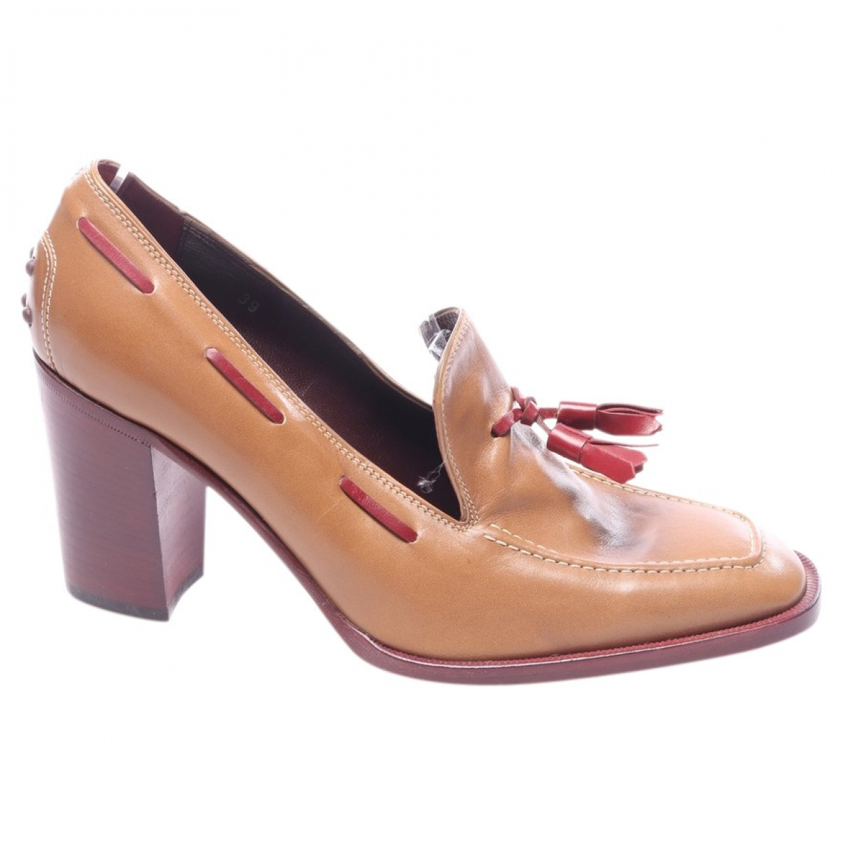 Tod's \N Brown Leather Heels for Women 40.5 EU