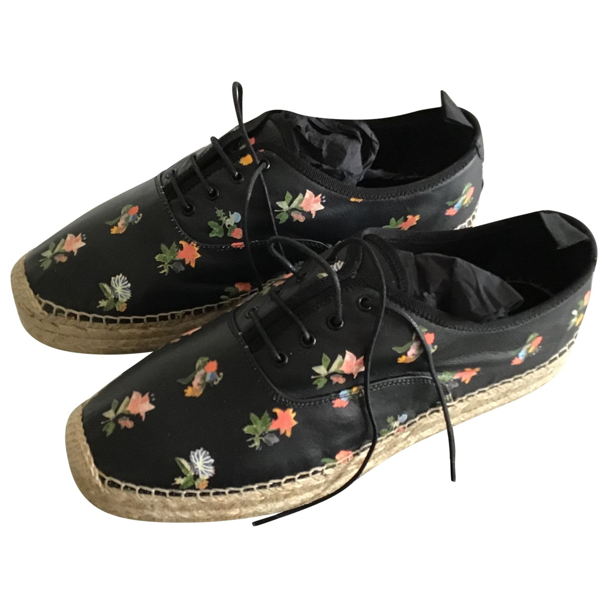 Saint Laurent \N Espadrilles in  Schwarz Leder