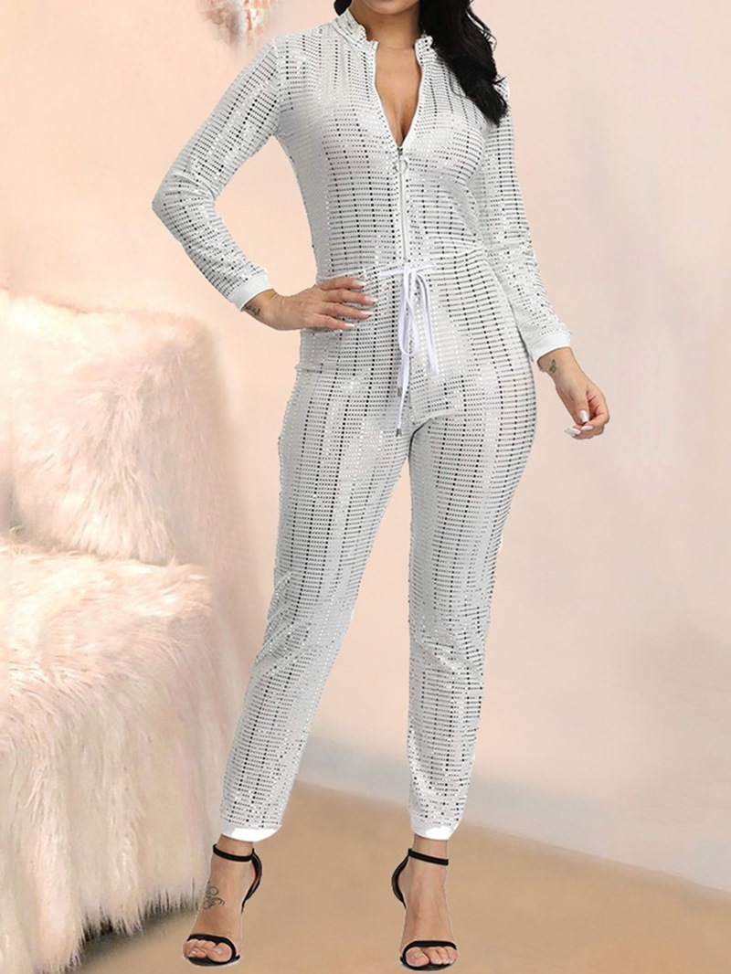 Ericdress Sequins Ankle Length Casual Skinny Jumpsuit