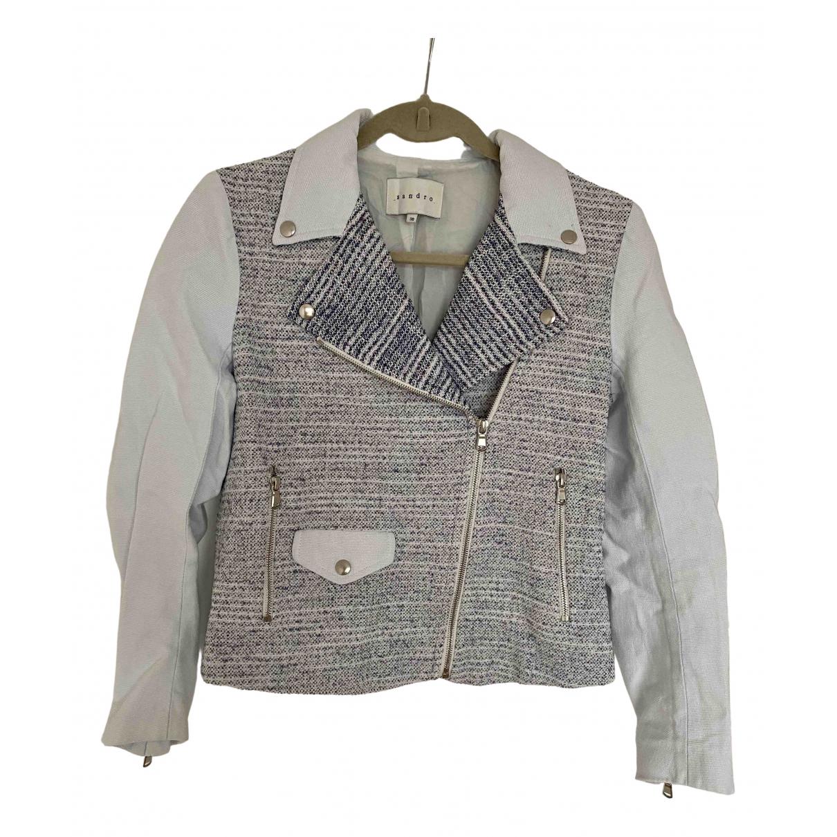 Sandro - Veste   pour femme en coton - blanc