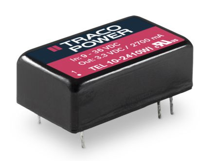 TRACOPOWER TEL 10WI 10W Isolated DC-DC Converter Through Hole, Voltage in 9 → 36 V dc, Voltage out 5V dc