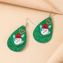Ohrringe mit Weihnachten Schneemann Anhaenger