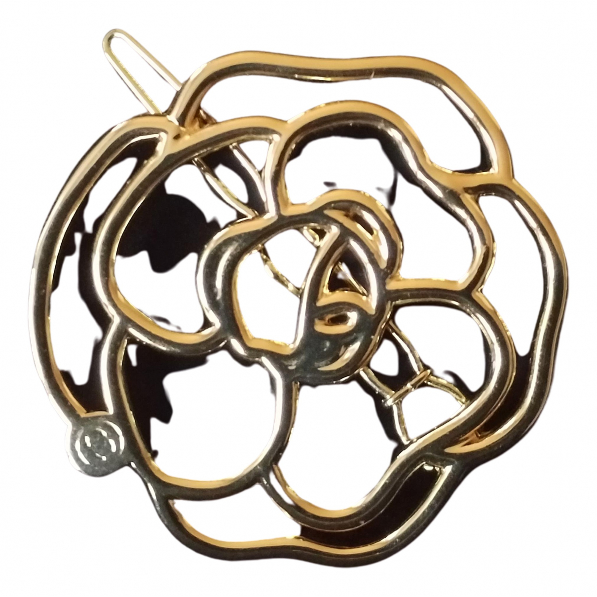 Chanel Camelia Haarschmuck in  Gold Gold