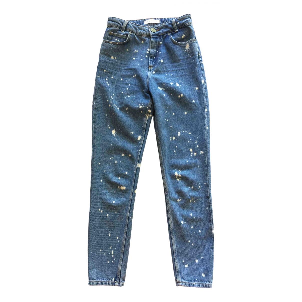 Sandro \N Blue Denim - Jeans Jeans for Women 36 FR