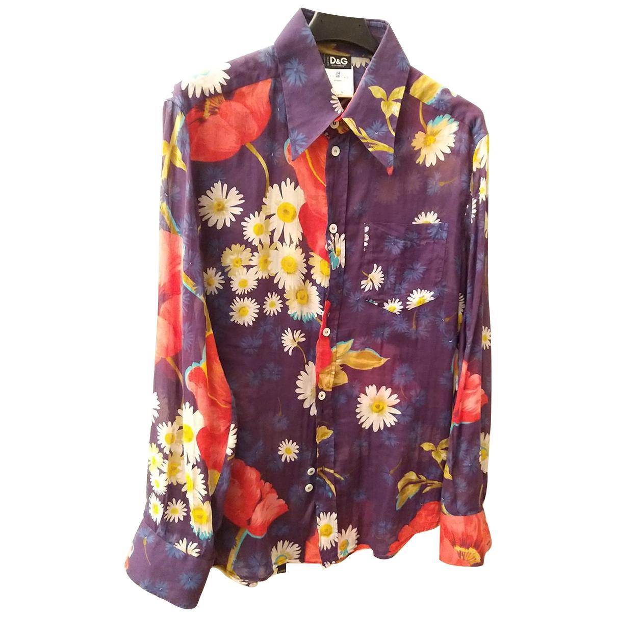 D&g \N Multicolour Cotton Shirts for Men M International