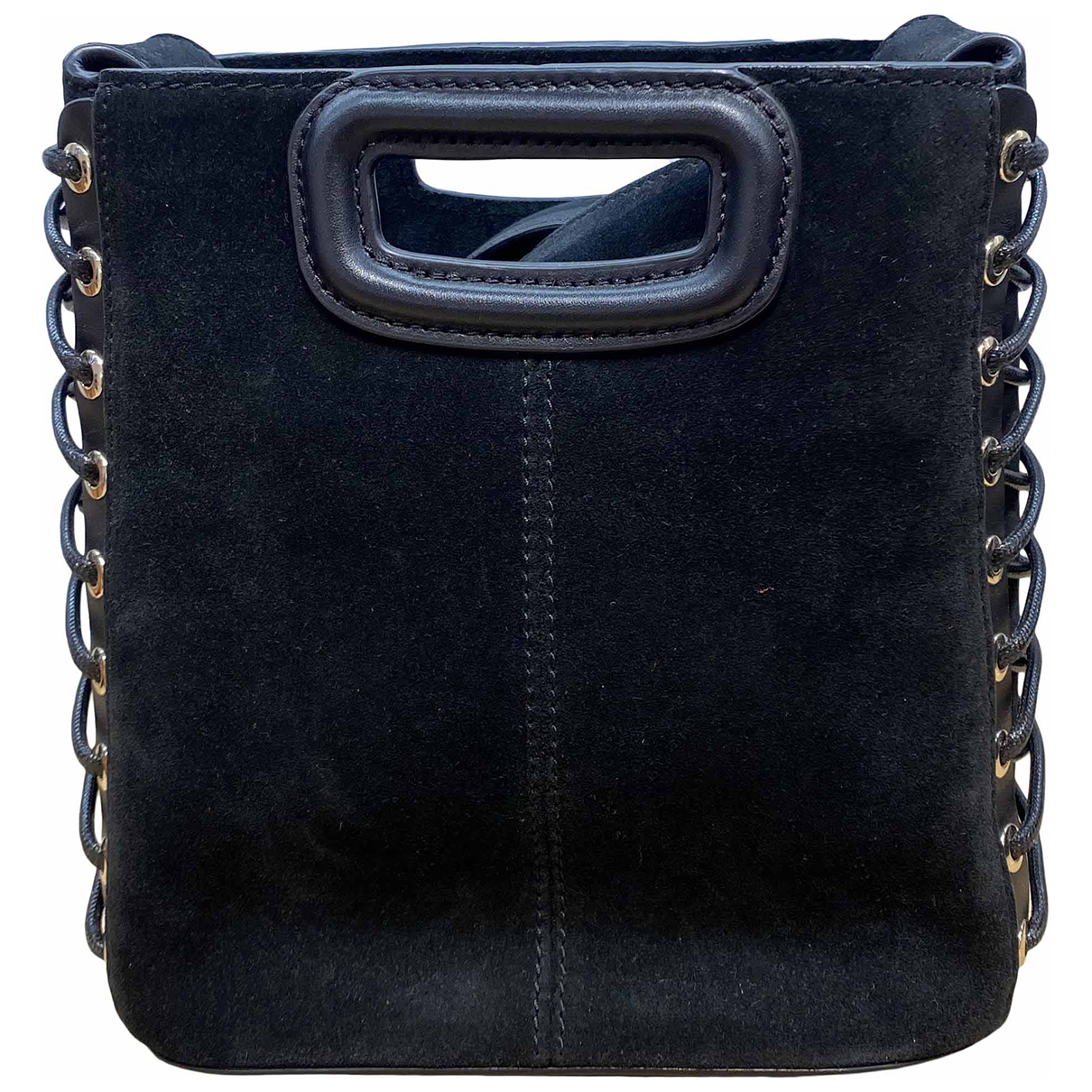 Maje Sac M Clutch in  Schwarz Leder