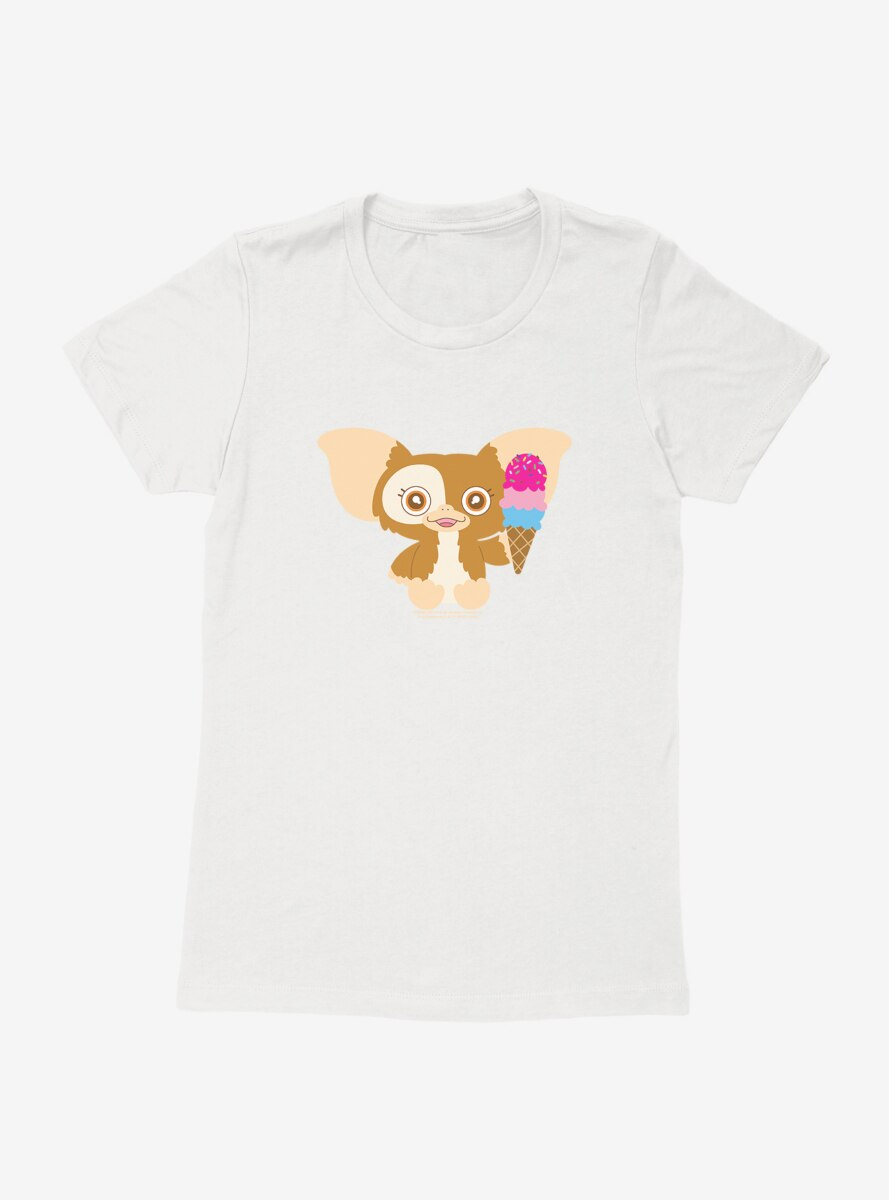 Gremlins Adorable Gizmo Eating Icecream Womens T-Shirt