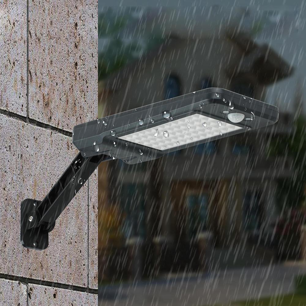 60 LED Remote ControlSolar PIR Motion Sensor Street Light Waterproof Outdoor Garden Wall Lamp 3 Lighting Modes
