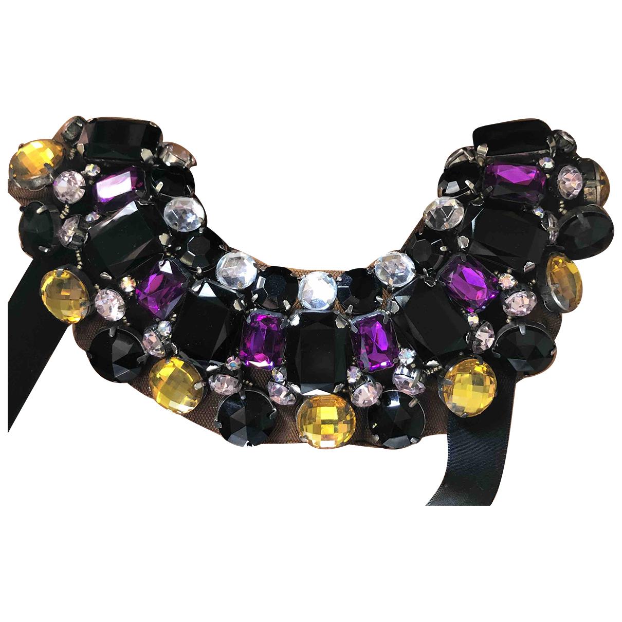 - Collier   pour femme en cristal - violet
