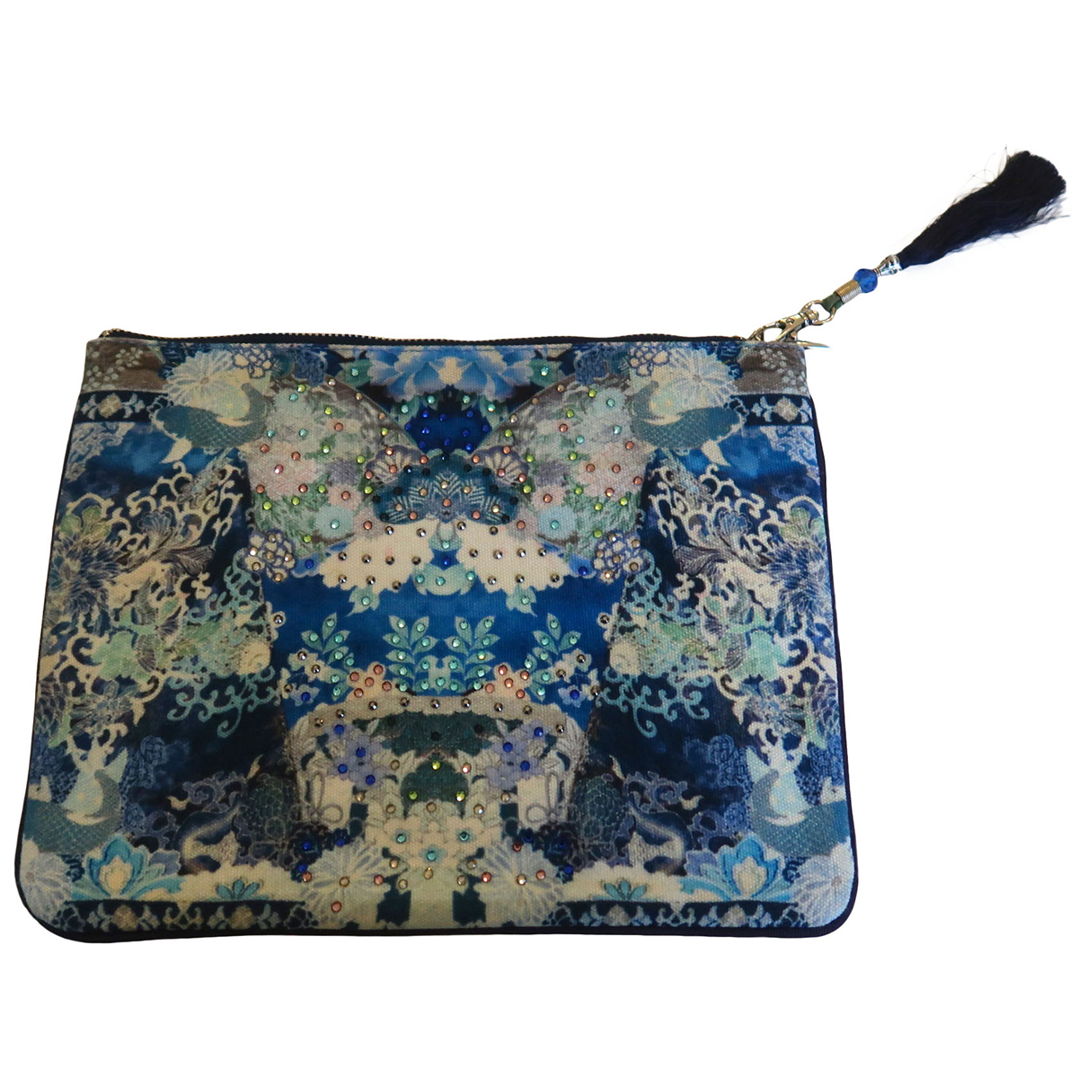 Camilla \N Blue Cloth Clutch bag for Women \N
